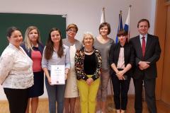 Katowice. Zwycięzca konkursu tłumaczeniowego: E. Giżycka z naszego Instytutu